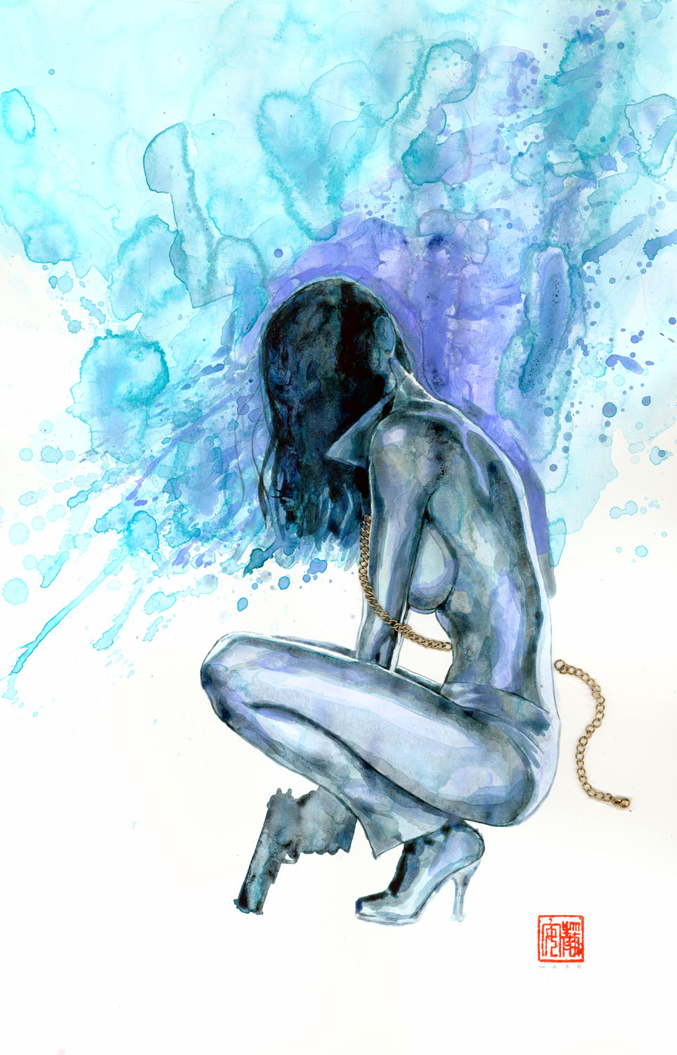 David Mack Has Kindly Shared The Artwork That Will Appear On The Variant  Edition Of The Cross Bronx #4, Which Will Feature A Story Cowritten And